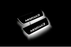 Led door sills Mazda 3 III 2013-2019 (rear doors) - (type STATIC)