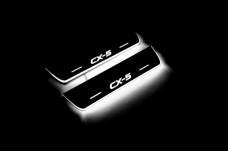 Led door sills Mazda CX-5 I 2012-2017 (rear doors) - (type STATIC)