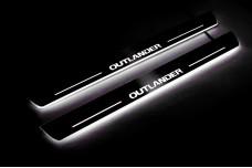 Led door sills Mitsubishi Outlander II 2007-2012 (front doors) - (type STATIC)