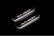 Led door sills Mitsubishi Outlander II 2007-2012 (rear doors) - (type STATIC)