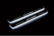 Led door sills Mitsubishi Outlander III 2012-2021 (front doors) - (type STATIC)