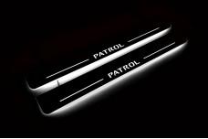 Led door sills Nissan Patrol Y62 2010+ (front doors) - (type STATIC)