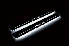 Led door sills Nissan Rogue II 2014+ (front doors) - (type STATIC)