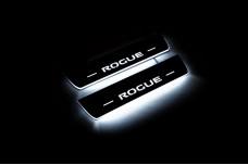 Led door sills Nissan Rogue II 2014+ (rear doors) - (type STATIC)