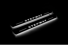 Led door sills Renault Sandero Stepway II 2013+ (front doors) - (type STATIC)