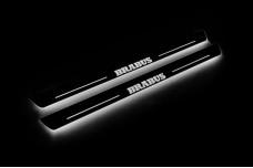 Led door sills Smart Fortwo III 2014+ with logo BRABUS - (type STATIC)