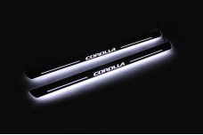 Led door sills Toyota Corolla XI 2013-2019 (front doors) - (type STATIC)