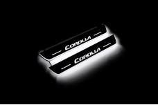 Led door sills Toyota Corolla XI 2013-2019 (rear doors) - (type STATIC)