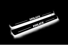 Led door sills Toyota Hilux VIII 2015+ (front doors) - (type STATIC)
