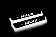 Led door sills Toyota Hilux VIII 2015+ (rear doors) - (type STATIC)