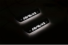 Led door sills Toyota Rav4 IV 2013-2018 (rear doors) - (type STATIC)