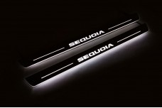Led door sills Toyota Sequoia II 2008+ (front doors) - (type STATIC)