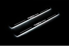 "Led door sills Toyota Tacoma III 2016+ with logo ""TRDpro"" (front doors) - (type STATIC)"
