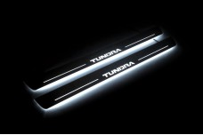 Led door sills Toyota Tundra II 2007-2013 (front doors) - (type STATIC)