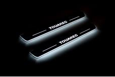 Led door sills Volkswagen Touareg II 2010-2018 (front doors) - (type STATIC)