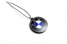 Car mirror pendant with logo BMW