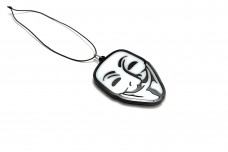 Car mirror pendant with logo Anonymous