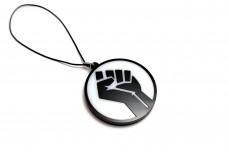 Car mirror pendant with logo Black Lives Matter