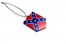 Car mirror pendant with American Confederate Flag