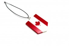 Car mirror pendant with flag of Canada