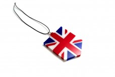 Car mirror pendant with flag of Great Britain