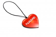 Car mirror pendant with logo Heart with a Name