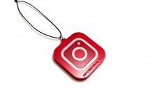 Car mirror pendant with logo Instagram and your nickname