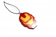 Car mirror pendant with logo Iron Man