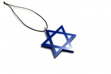 Car mirror pendant with logo Star of David