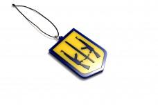 Car mirror pendant with logo Coat of arms of Ukraine (type 2)