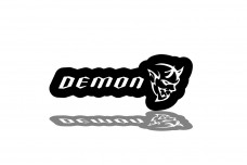 Led Badge for Dodge Challenger 2008+ with logo Demon - (type RGB)